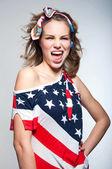 可爱的美国女孩 — 图库照片