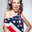 Cute American girl — Stock Photo