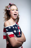 Winking American girl — Stock Photo