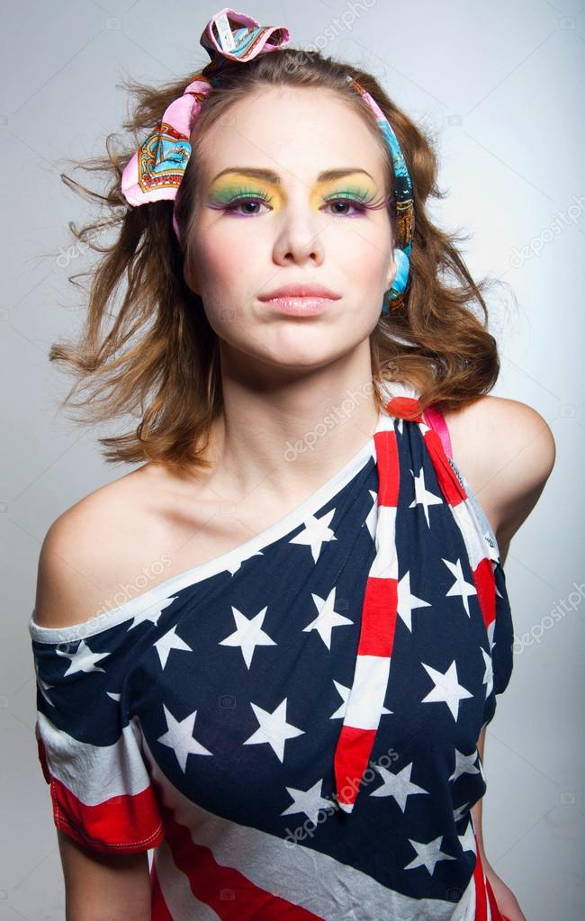 漂亮的美国女孩 — 图库照片