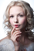 Beautiful female angel — Stock Photo