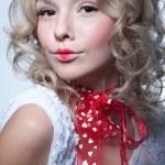 Pretty blond girl portrait — Stock Photo