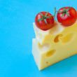 Stock Photo: Cheese and cherry tomatoes