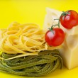 Italian pasta with cheese and tomatoes — Stock Photo