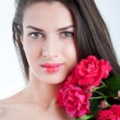 Girl with roses — Stock Photo #28792135