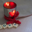 Love and candle — Stock Photo #29984405