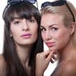 Two girls in sunglasses — Stock Photo