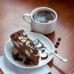 Coffee with a chocolate cake — Stock Photo #41303837