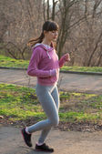 Female runner — Stock Photo