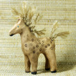 Clay toy horse — Stock Photo