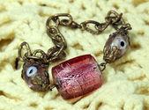Bracelet handmade from Murano glass — Stock Photo