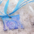Blue clay amulet — Stock Photo