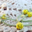 Clay amulet ladybirds — Stock Photo