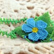 Blue bead pendant flower — Stock Photo