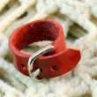 Original leather handmade ring — Stock Photo