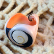 Original handmade ring of sea shell — Stock Photo