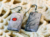 Clay earrings — Stock Photo