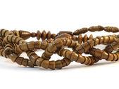 Handmade Wooden beads — Stock Photo