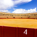 Bullfight arena (Plaza de toros de la Real Maestranza,Sevilla) built in 1794 of Seville, Andalusia, Spain. — Stock Photo #26186075