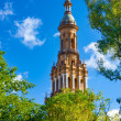 Spanish Square Tower — Stock Photo