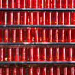Stock Photo: Church candles in red