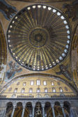Angel Mosaics and dome of Hagia Sophia — Stock Photo