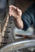 Produkcji włókien jedwabiu — Zdjęcie stockowe