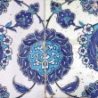 Tile wall decoration of  Eyup Sultan Mosque, Istanbul, Turkey — Stock Photo