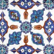 Tile wall decoration of  Rustem Pasha Mosque, Istanbul, Turkey — Stock Photo