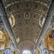 Interior of St. Peter's Cathedral, Vatican City. Italy — Stock Photo
