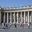 Colonnade of Bernini at the Piazza St. Peter's, Vatican, Rome - Stock Photo