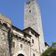San Gimignano is a small walled medieval hill town in Siena — Stock Photo #24783423