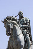 Equestrian Statue of Cosimo I by Giambologna, in Florence, Italy — Stock Photo