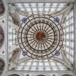 Chandelier and dome of Mihrimah Sultan Mosque, Edirnekapi, Istan — Stock Photo