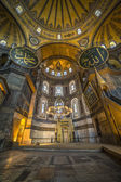 Interior view of Haghia Sophia, Istanbul, Turkey — Stock Photo