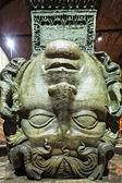 Medusa haed in The Basilica Cistern. Istanbul — Stock Photo