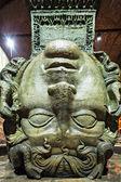 Medusa haed in The Basilica Cistern. Istanbul — Stock Photo