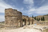 The Fortinus Gate in Hierapolis, Denizli, Turkey — Stock Photo