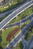 Top view of roads in Istanbul — Stockfoto