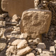 "T-Shaped pillars at Gobekli Tepe ""Potbelly Hill"" in Sanliurfa, T — Stock Photo"