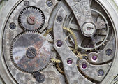 Macro view of a pocket watch machinery — Stock Photo