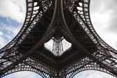 Detail view of Eiffel Tower in Paris — Stock Photo