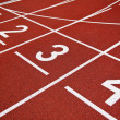 Stock Photo: Athletics Start track lanes