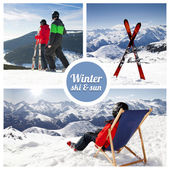 Winter ski and sun — Stok fotoğraf