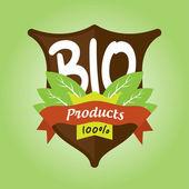 Bio products badge — Stok Vektör