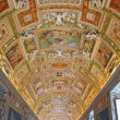 Vatican Museum in Rome, Italy - Gallery of the Geographical Maps — Stock Photo