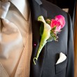 Stock Photo: Schutte Wedding grooms tux with boutonniere