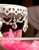 Jeweled wedding cake stand — Stock Photo