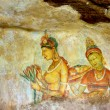 Stock Photo: Ancient rock painting at Sigiriya, Sri Lanka