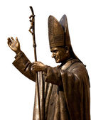 Statue of Pope John Paul II — Stock Photo